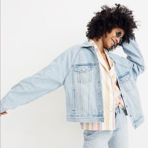 Madewell Raglan Jean Jacket in Bristol Wash